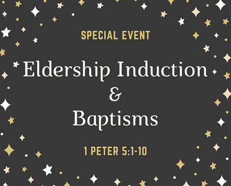 Special event induction and baptism promo poster